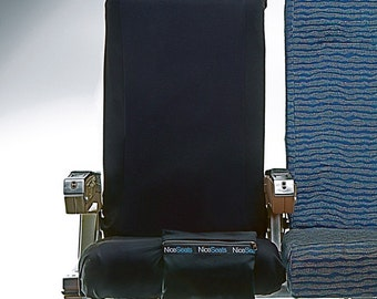 Airplane Seat Cover by Nice Seats- The New Black- Great on Planes, Buses & Movie Theaters- Easy to Use, Machine Washable Seat Covers
