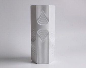 Tall Vintage Op Art Vase - AK (Kaiser) 70s