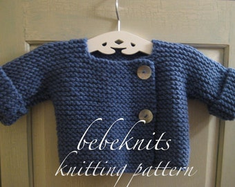 French Baby Knitting Patterns : Baby cardigan Etsy