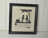 Wooden Framed Photo / Child Black and White Picture with Quote In Frame