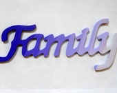 FAMILY - Handpainted Wood Sign - purple ombre - Made to Order - PreciousBeast