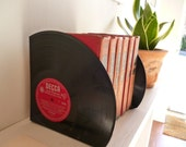 """Record Bookends Handmade from 12"""" Vinyl Records"""