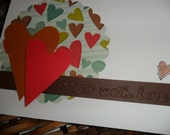 With love - set of 2 cards and envelopes