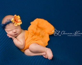 RTS, Cheesecloth 6Ft X 6Ft, Orange Cheesecloth, Newborn Photo Prop, Baby Wrap, Newborn Cheesecloth, Newborn Photo Prop, Orange Newborn Wrap
