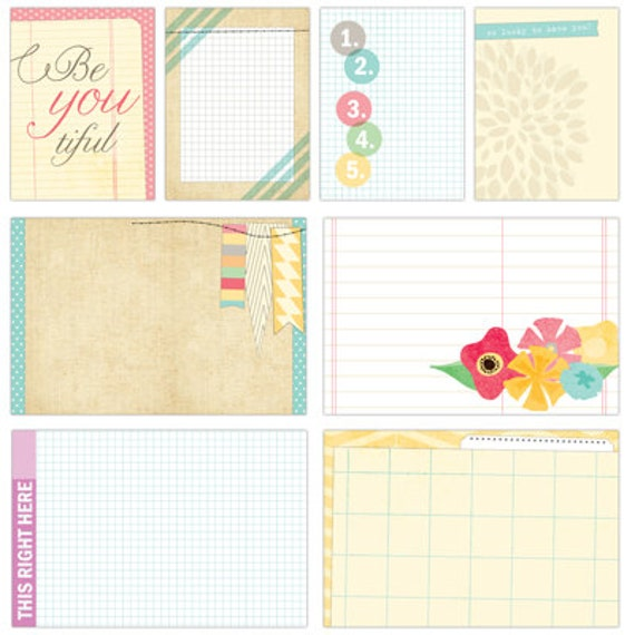 Large and Medium Journaling Tags Serendipity from Elle's Studio