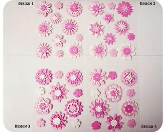 Flower felt embellishment set