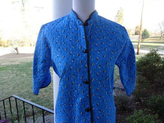 Reserved                1960s jacket / quilted jacket / Blue Mandarin jacket
