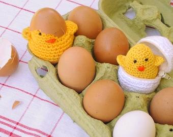 Eggs Food Crochet Pattern PDF - toy, eggs, chicks Amigurumi pattern - easy beginner pattern  - Instant DOWNLOAD