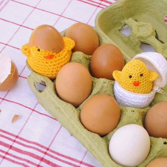 Pattern Toy eggs & baby chicks Amigurumi PDF - playful egg box TOY ...