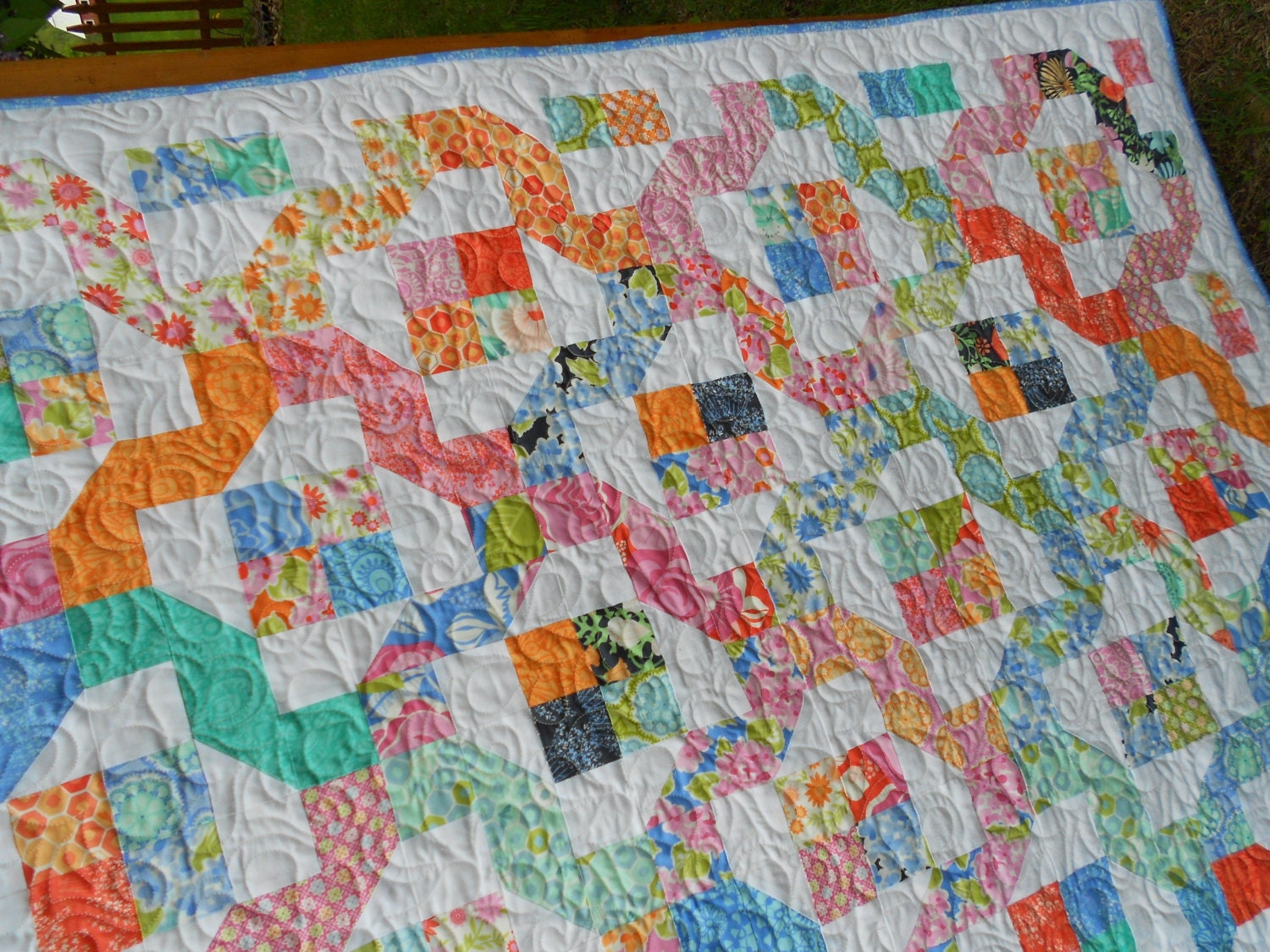 Winding Nine Patch Quilt Pattern Pdf Instant Download Layer
