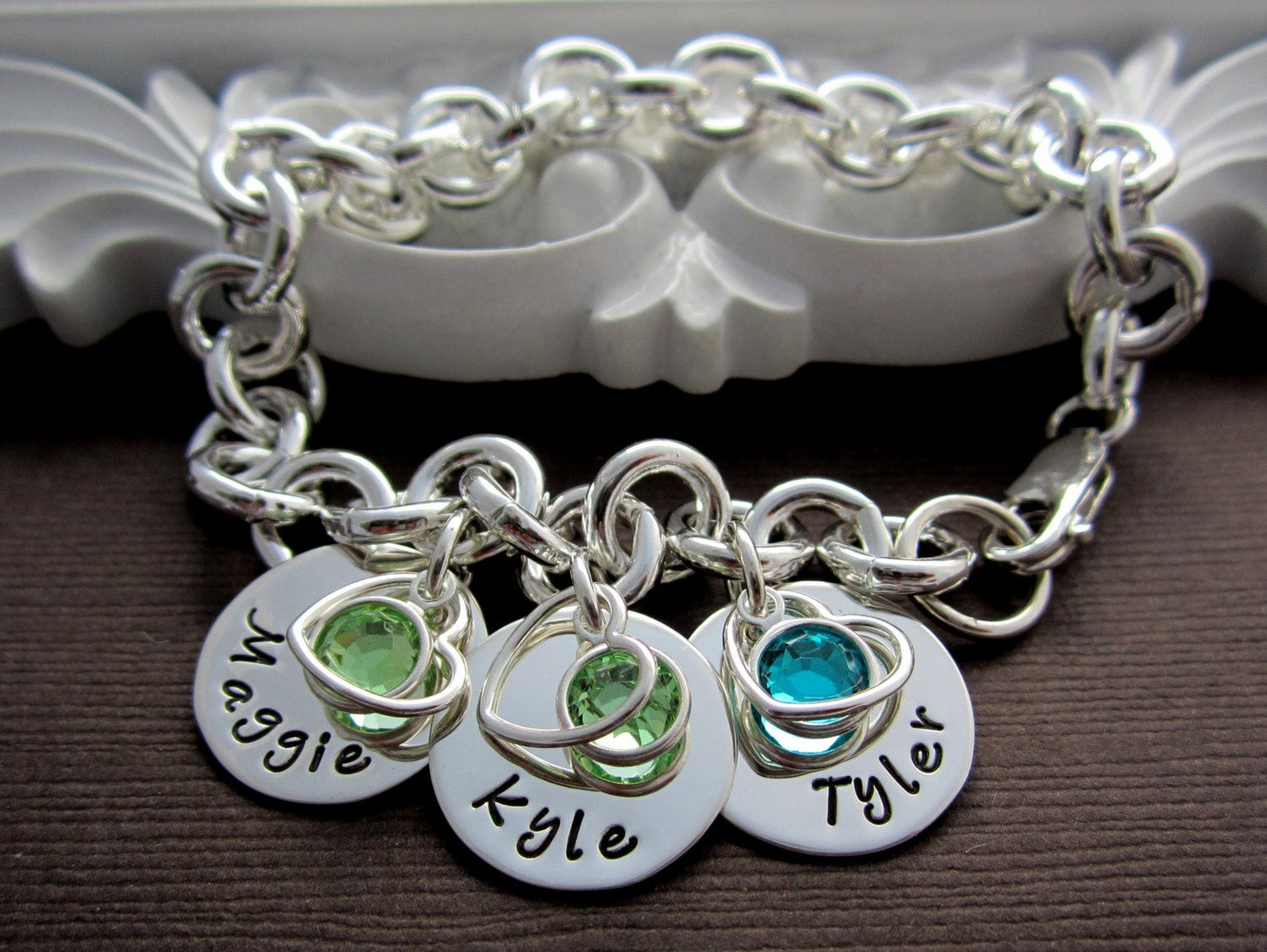 jewelry mothers birthstone charm bracelet mothers by. Black Bedroom Furniture Sets. Home Design Ideas