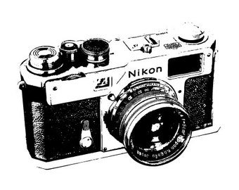 SLR Camera Illustration - Fine Art Print - 5x7