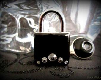 Lock,  Working Padlock , Lock and Key, Mini  Lock,Lock, Black,  Bondage