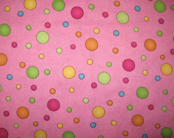 Wilmington Prints Dots on pink 1 yard