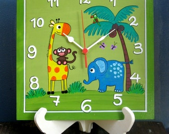 Wall Clock On A Stand / The Jungle Animals