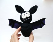 Pattern, Amigurumi Pattern, Amigurumi Bat Pattern, Crocheted Bat Pattern, Tutorial, Instant Download