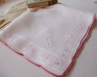 Hankie Monogram BGV Personalized Embroidered Handkerchief