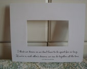 NEW Custom Photo Mat. Choose your own lyrics, poem or quote on 8x10 photo mat for 4x6 photo. Perfect gift for any occasion.