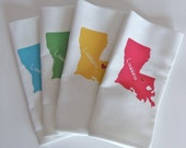 I Love Louisiana, Set of Four Napkins- Set of FOUR