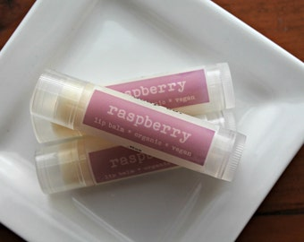 Raspberry Organic LIp Balm, Vegan Lip Balm