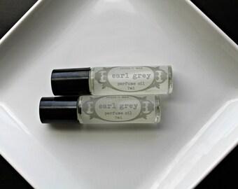 EARL GREY  Perfume Oil, 7ml Roll-On Bottle, Vegan