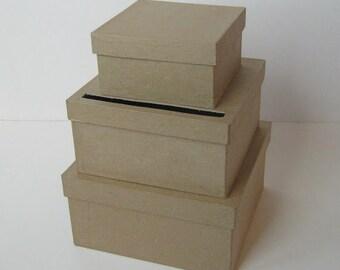 DIY Wedding Card Box SMALL Unfinished 3  tier card Box