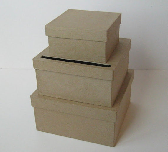 DIY Wedding Card Box SMALL Unfinished 3 tier card Box from ...