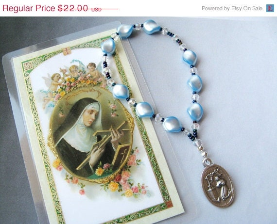 ON SALE - Chaplet of St. Rita - Patroness of Impossible Dreams, Loneliness