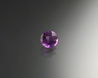 Natural Brazilian Amethyst checkerboard cut loose stone 6mm round