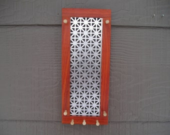 Wall Storage-  jewelry organizer  - necklace holder -sustainably harvested wood - made in Montana - earring screen - jewelry holder