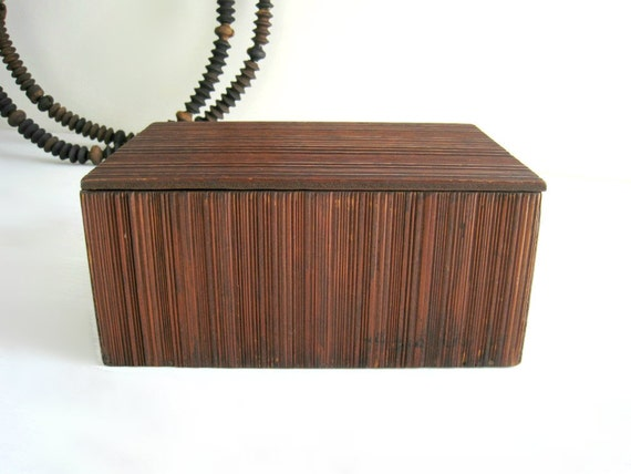 Vintage Wood Box - Rustic Cottage Decor and Storage