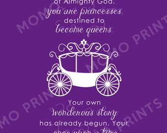 NEW - You are Princesses - LDS Girls Uchtdorf Print