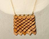 Cherry Wood Talisman Necklace