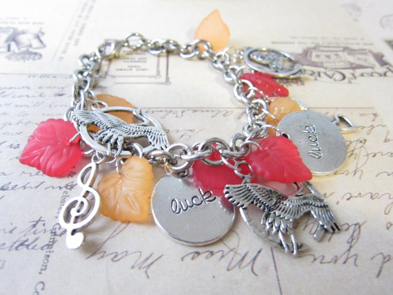 OOAK Hunger Games Charm Bracelet