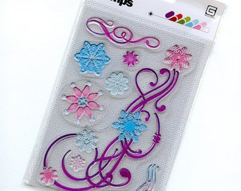 Clear Acrylic Stamp Set from Basic Grey's Eskimo Kisses Collection - Flaked Out