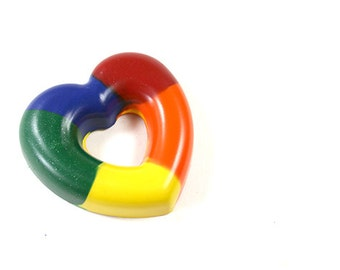 Heart Ring  Rainbow crayon by Scribblers Crayons