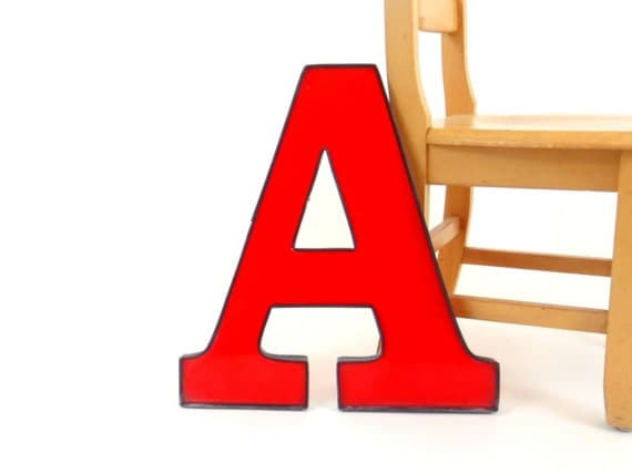 Alphabet letter a wall letters sign letter large marque letter for Large letter j for wall