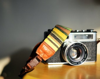 Green Village Camera Strap suits for DSLR / SLR with Quick Release Buckles