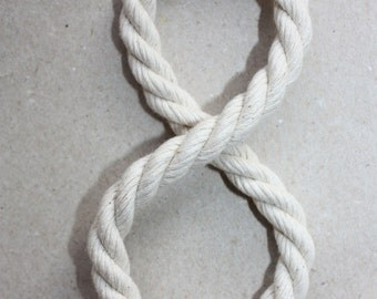 8 mm Cotton Rope = 98 Feet = 30 Meters of 100% Natural and Elegant COTTON TWISTED CORD