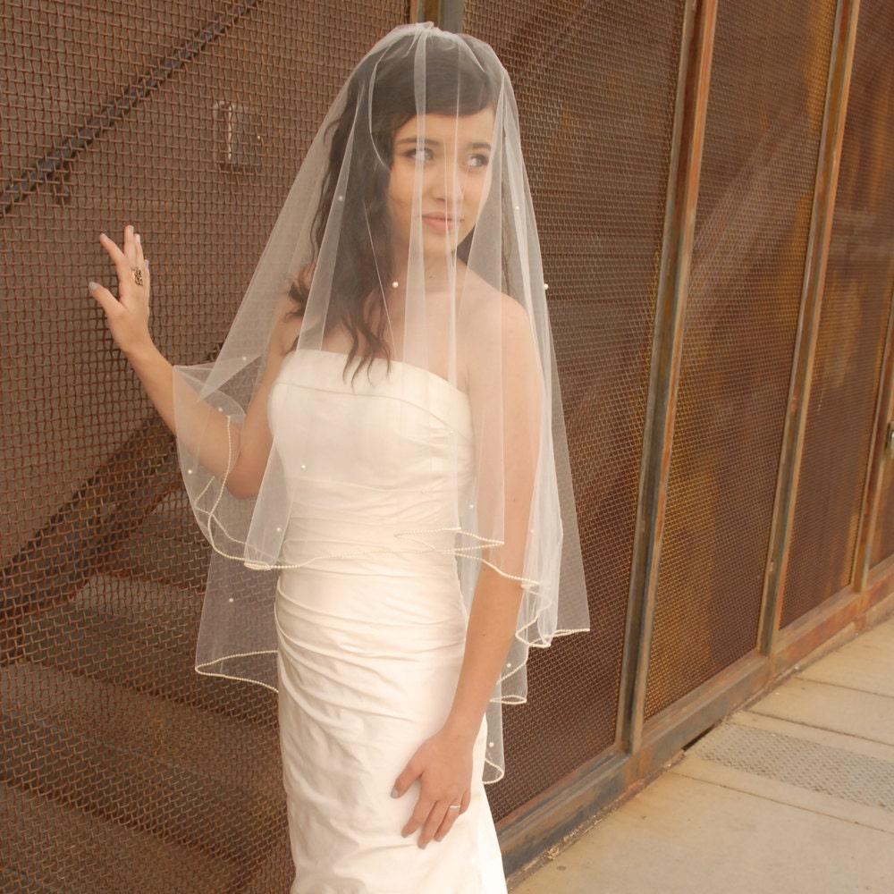 Pearl Wedding Veil Fabulous Vintage Style Bridal Veil: Drop