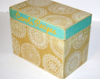 Personalized Recipe Box, 4x6 Recipe Box, 4 x 6 Custom Box, You Design It, Handmade Wooden Recipe Card Box, Wedding Guest Book Box