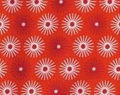 Groove, Robert Kaufman Fabric, Orange, White, 1/2 Yard