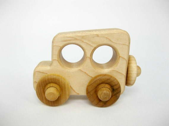 Wood Toy Antique Old Time Car, little wooden kids toy