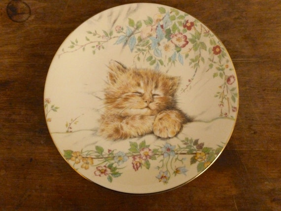 Vintage Cat Nap Collector Plate