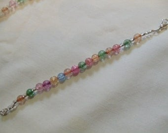 "5 3/4"" Beaded Multi-Colored Bracelet"