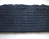 Vintage Woven Black Zippered Case