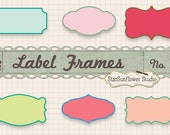 Journal Tags - Doodle Frames Clipart  - Set 21 with Brushes & Custom Shapes