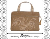 """PDF Sewing Pattern Kindle, Kindle Fire, Nook, Nook color, Sony, Kobo case cover with pocket zipper handles fully lined """"Madison"""""""