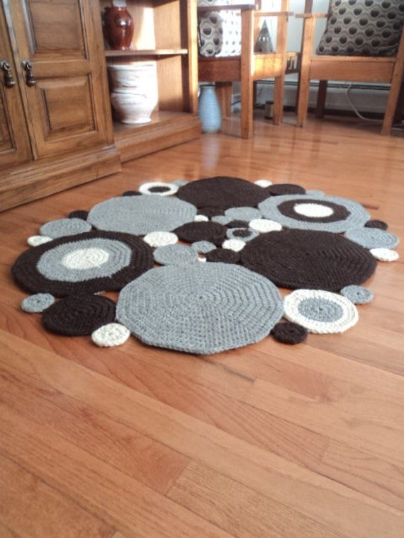 On Sale Crochet Circle Area Rug Natural By Wendyswonders127