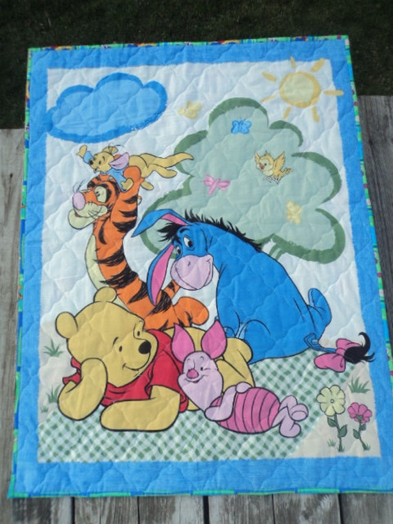 Winnie The Pooh, Wall hanging, Crib Quilt